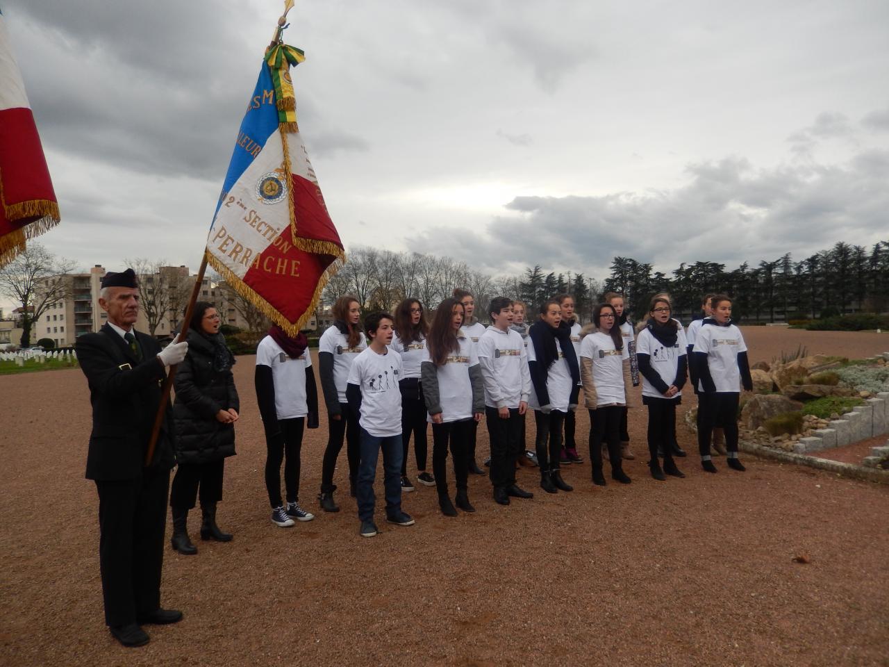 Cérémonie en hommage aux Combattants de la Grande Guerre  Commémoration organisée par les membres de la Légion d'Honneur .