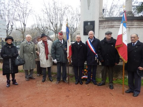 Hommage au Général Leclerc a l'initiative du Président  André Geinet de l'Amicale de la  2ème DB