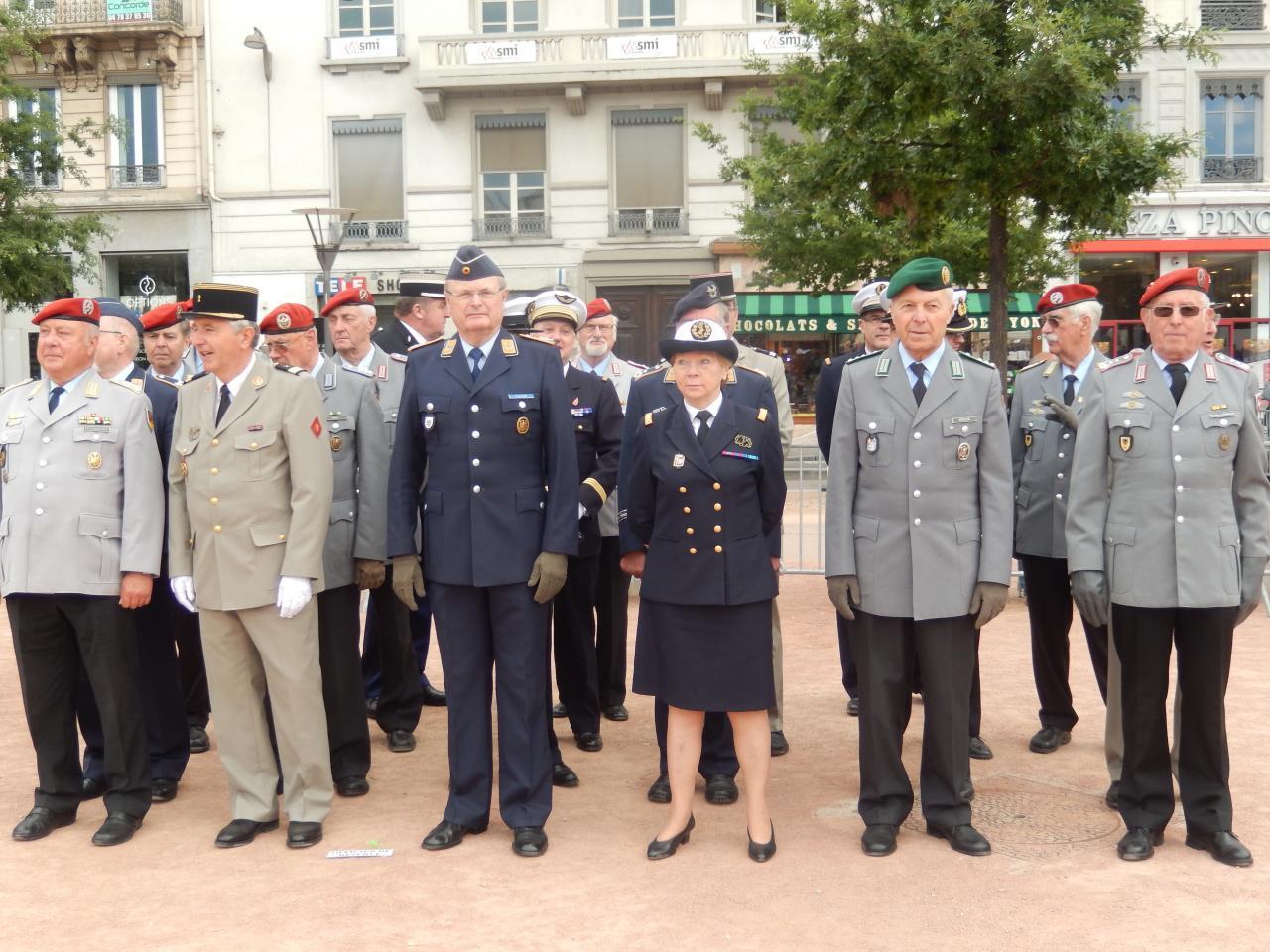Cérémonie du 8 mai 2015 place Bellecour