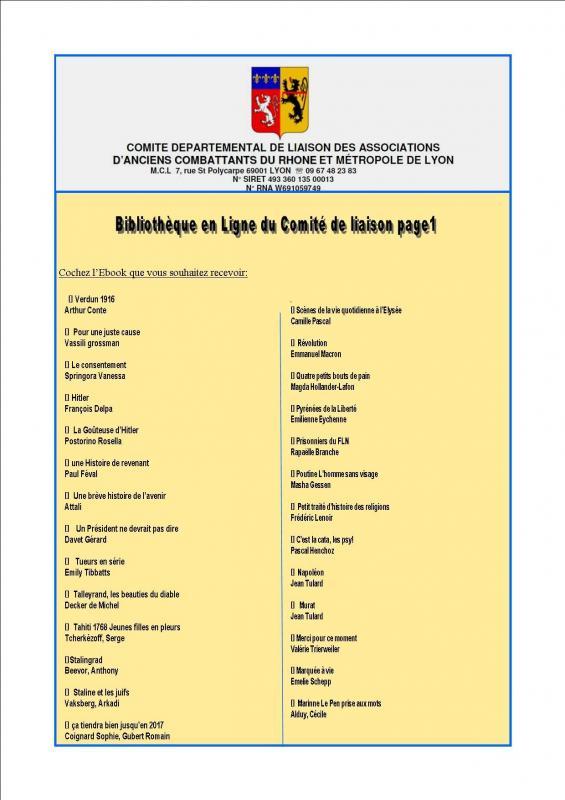 Bibliotheque en ligne du comite de liaison page1