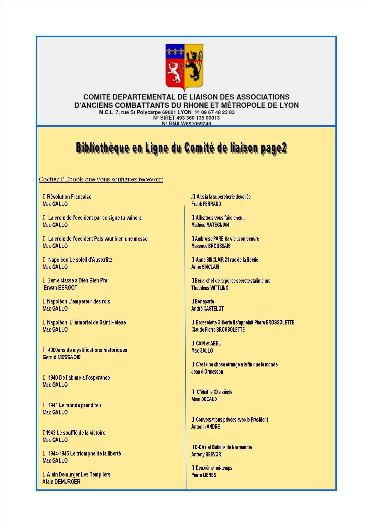 Bibliotheque en ligne du comite de liaison page2