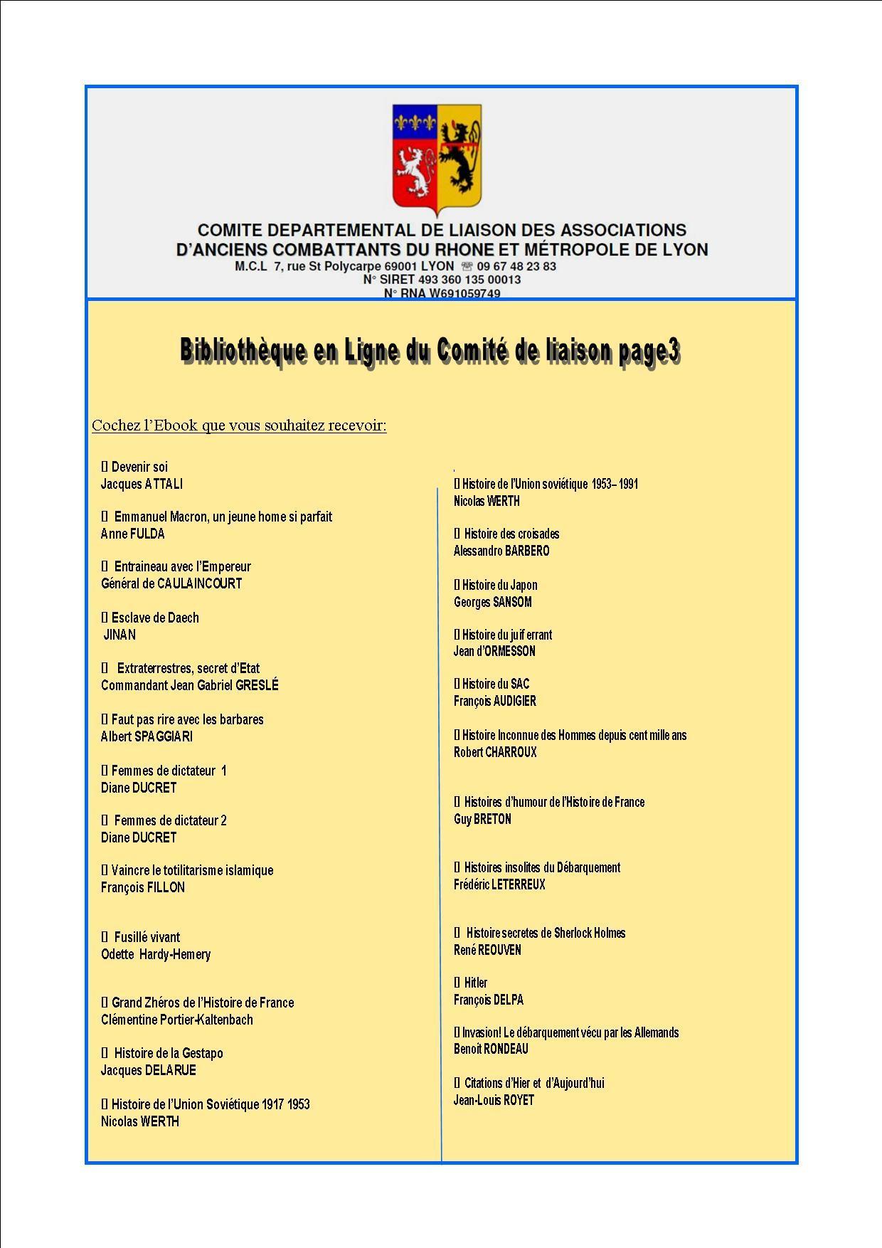 Bibliotheque en ligne du comite de liaison page3