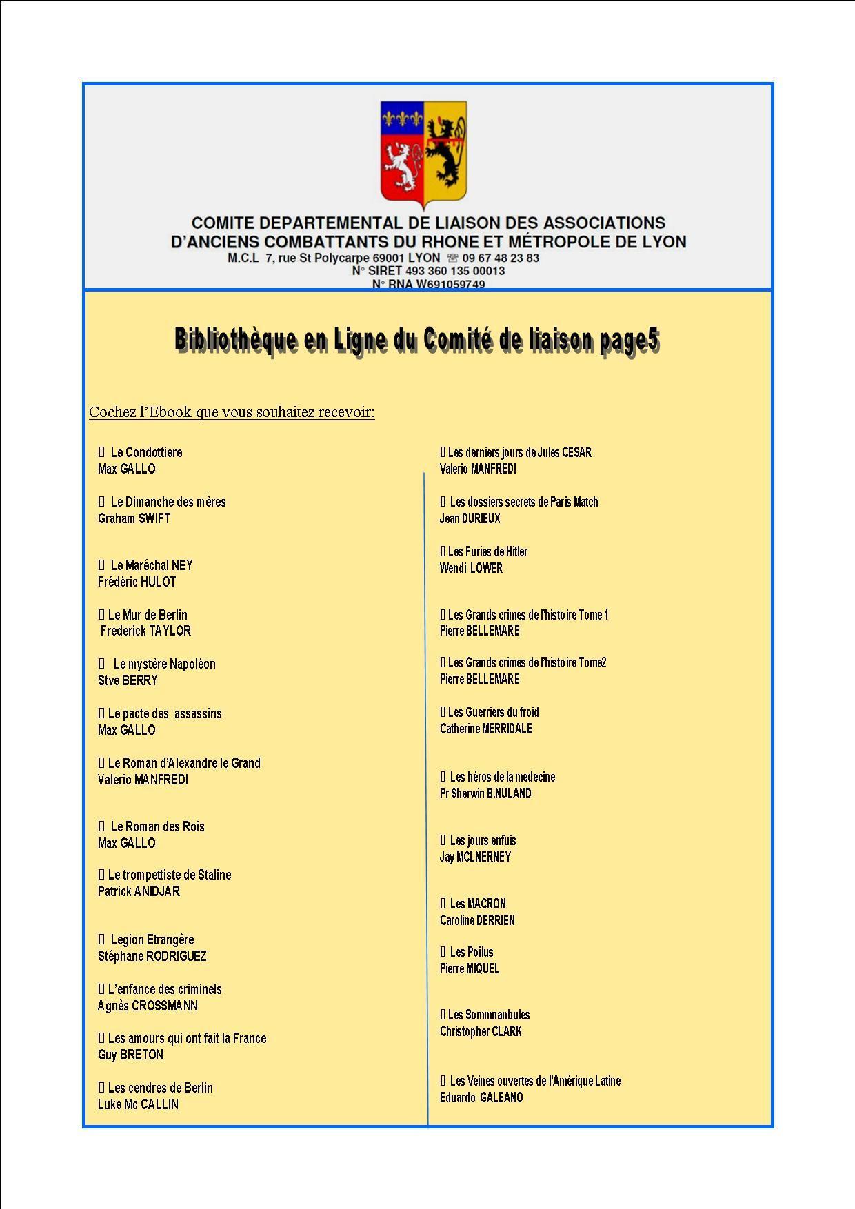 Bibliotheque en ligne du comite de liaison page5