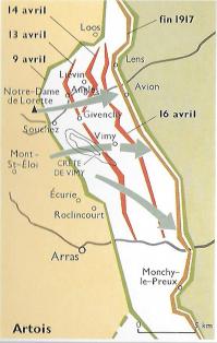 Carte artois 1917