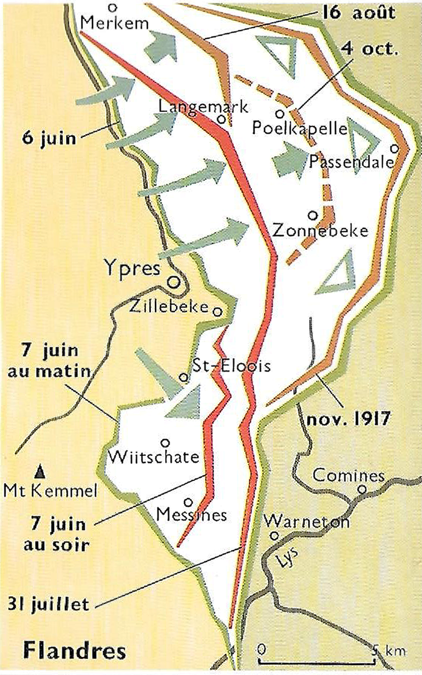 Carte flandres 1917