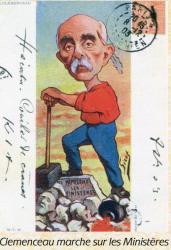 Clemenceau marche sur les ministeres