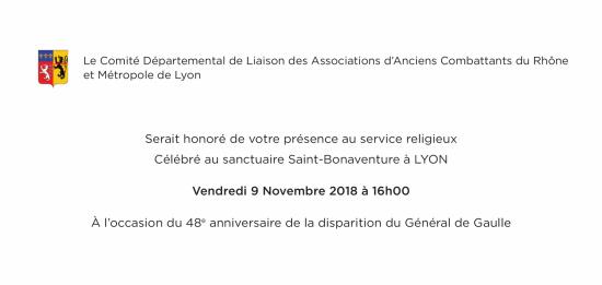 Invitation messe general de gaulle2018