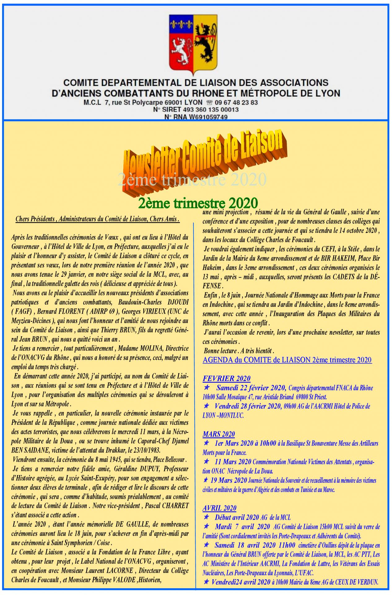 Newsletter cl 2eme trim 2020v2 r