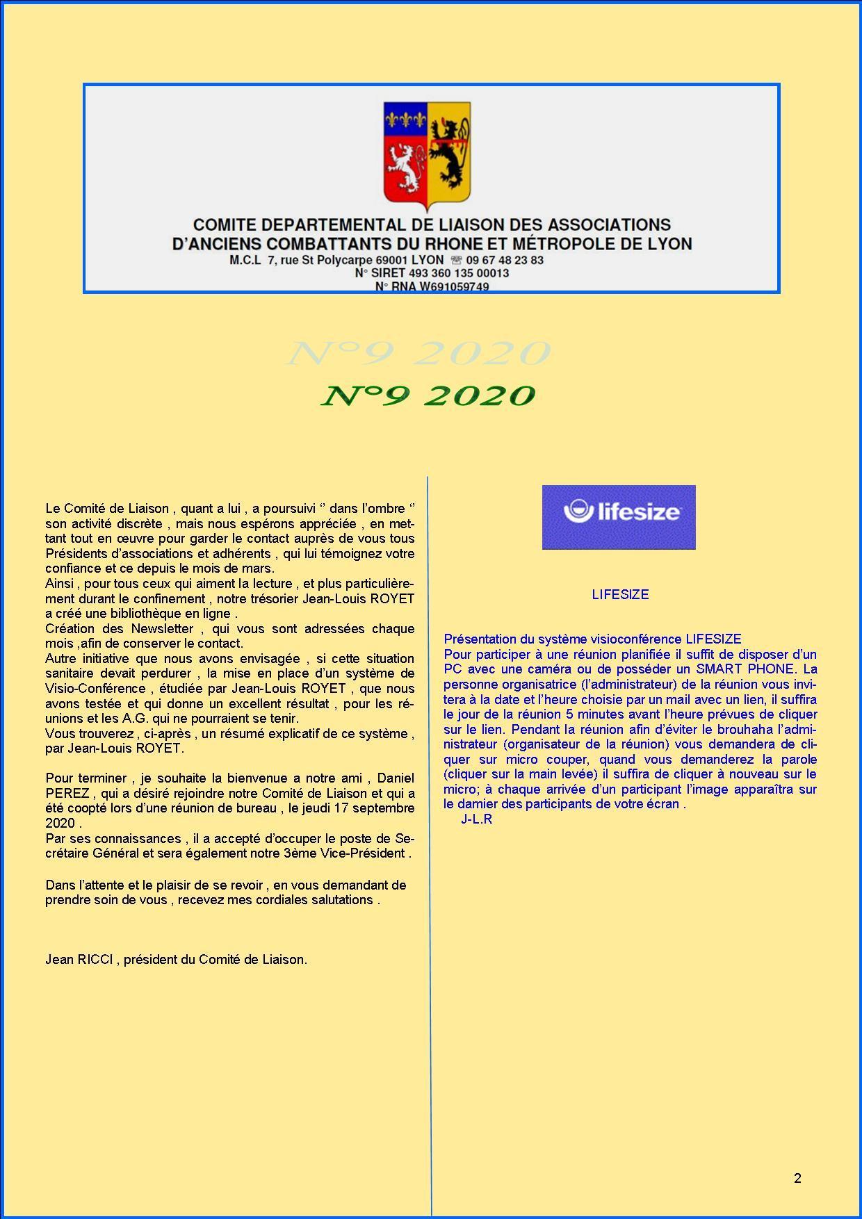 Newsletter comite de liaisonn 9 2020 p2