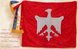 Polonais drapeau des volontaires
