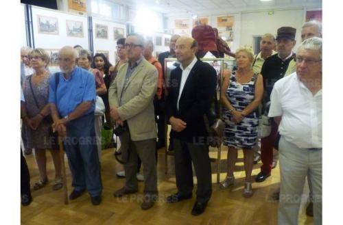 Une partie de l assistance lors de la presentation de l exposition photo gerard chauvy 1473880289